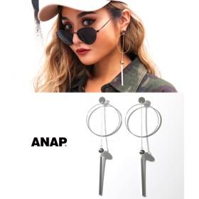 ANAP(アナップ)フープ×チェーンボールピアス