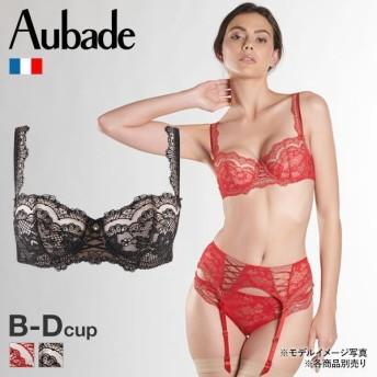 【メール便(25)】 1/2カップ ブラジャー (オーバドゥ)Aubade Soleil Nocturne シリーズ 総レース ノンパデッド 単品