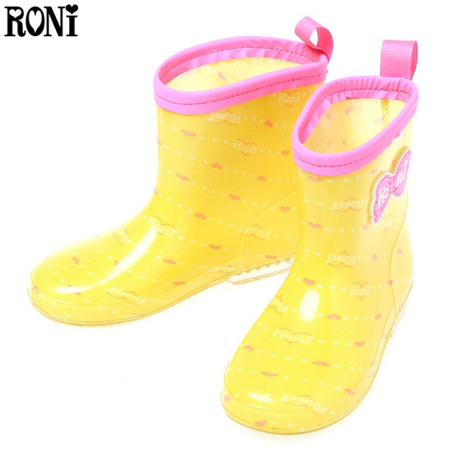 RONI トドラーレインブーツ リボン キイロ レイングッズ 長靴 MJ706033