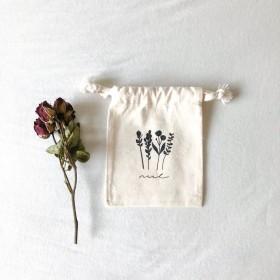 flowers 巾着ポーチ S