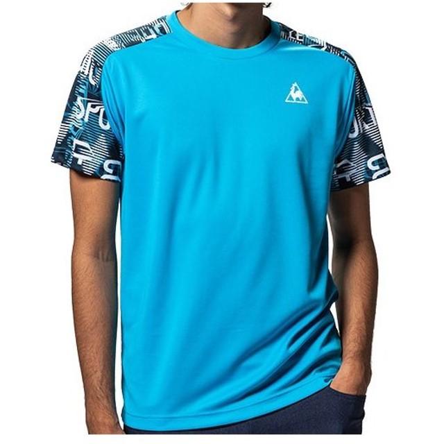 ルコック スポルティフ(le coq sportif) メンズ 半袖Tシャツ ブルードゥアジュール QMMNJA06 BDA トレーニングウェア スポーツウェア マルチスポーツ トップス