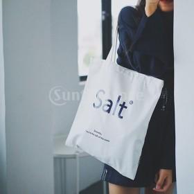 女性の耐久性のある白いキャンバストートソルトレター大型ハンドバッグショルダーバッグ