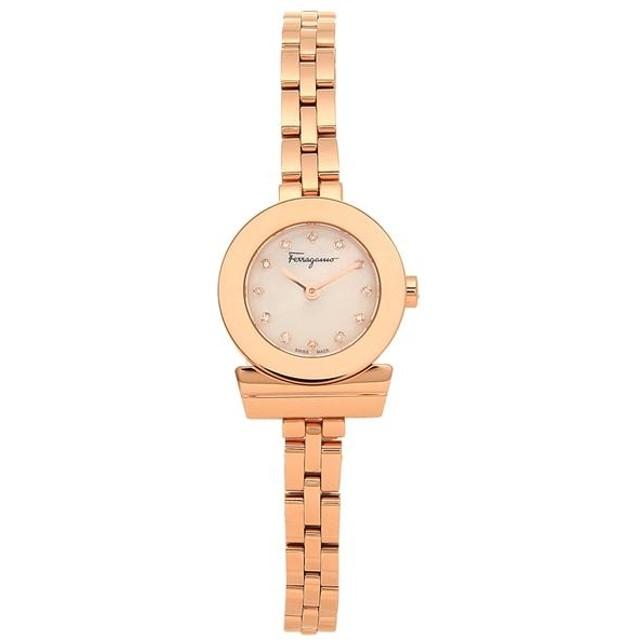 97caf88f49 【送料無料】サルヴァトーレフェラガモ 時計 Salvatore Ferragamo SFBF00318 GANCINO ガンチーニ ブレスレット  ダイヤモンド レディース腕時計