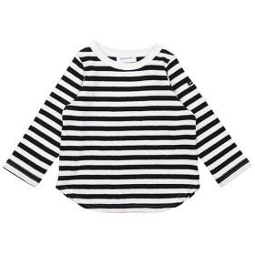 カムチャットアンドクロゼット 16/ ボーダーテンジク 長袖 Tシャツ レディース ブラック 90 【COMECHATTO & CLOSET】