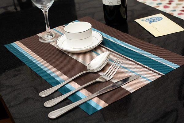 時尚歐式高檔PVC餐墊 隔熱防滑杯墊桌墊西餐墊 (四入)