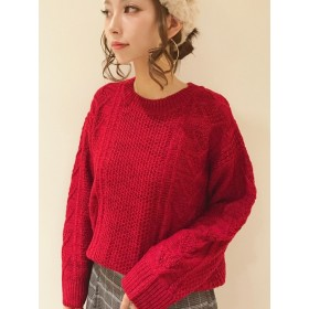 ニット・セーター - Lugnoncure ウール混ケーブルプルオーバー