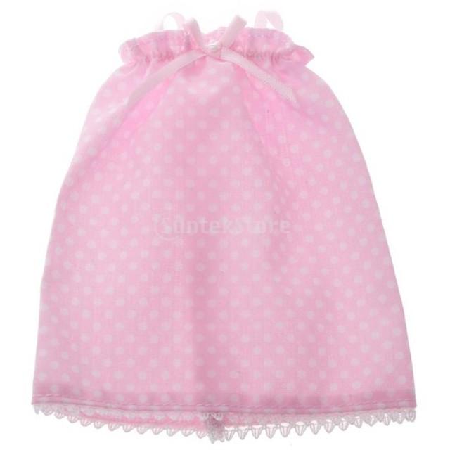 ノーブランド品 1/6ブライス人形適用 人形装飾 水玉の柄 サスペンダースカート ブレースドレス 2色選べ - ピンク, 11.5センチメートル