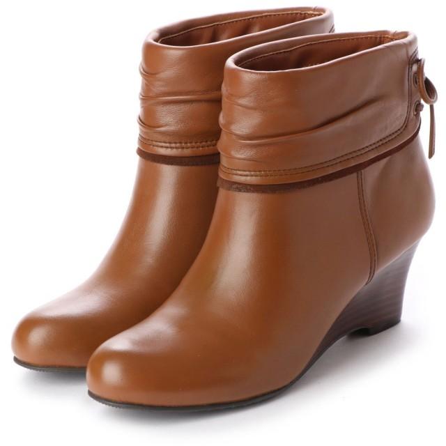 シューズラウンジ shoes lounge 【本革】ショートブーツ 3196454BR (ブラウン)