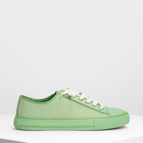 【2019 SPRING 新作】トータルフュー キャンバススニーカーズ / Total Hue Canvas Sneakers (Sage Green)