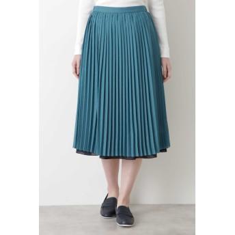 ◆リバーシブルスカート グリーン×ネイビー