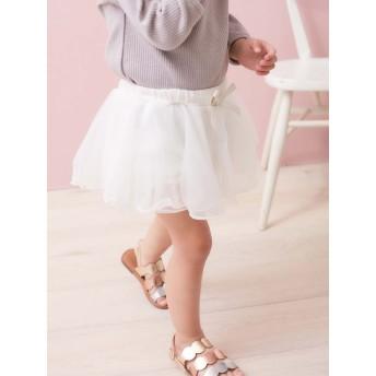 【ANGELIEBE/エンジェリーベ】【Kids zoo】シフォンスカート付ブルマ ホワイト 70