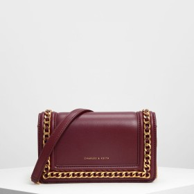 CHARLES&KEITH Chain Rimmed Clutch