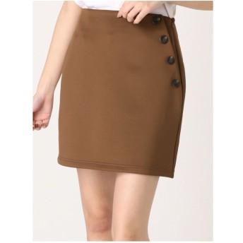 EMODA デザインボタンスカート(ブラウン)