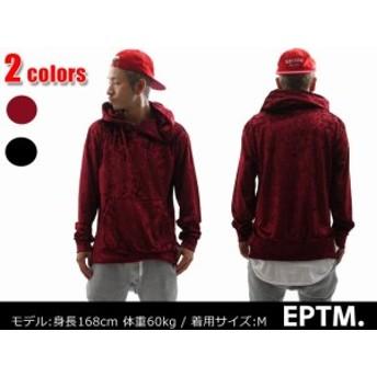 【全2カラー】 EPTM (エピトミ) VELOUR HOODIE [プルオーバーパーカー] 999-003801-031 (SWT/HOODY)