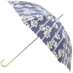 grove(グローブ) ストライプフラワー長傘(晴雨兼用)