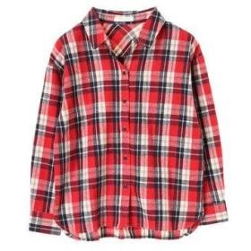 グリーンパークス Green Parks カジュアルチェックBIGシャツ (Red)