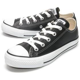 フットプレイス コンバース レザーオールスター ロウ CONVERSE LEATHER ALL STAR LOW ユニセックス ブラック 25cm 【FOOT PLACE】