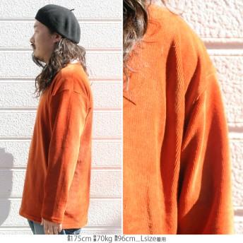 Tシャツ - Maqua-store ロンT メンズ Tシャツ ストレッチ コーデュロイ オーバーサイズ ワイドシルエット 長袖Tシャツ ロンティー カットソー トップスM L LL 2L XL