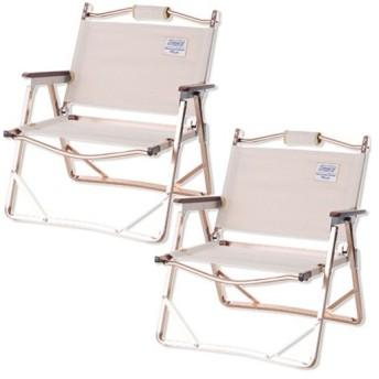 コールマン(Coleman) 2点セット INDIGO LABEL インディゴレーベル IL コンパクトフォールディングチェア ヘリンボーン 2000032519 キャンプ ローチェア 椅子