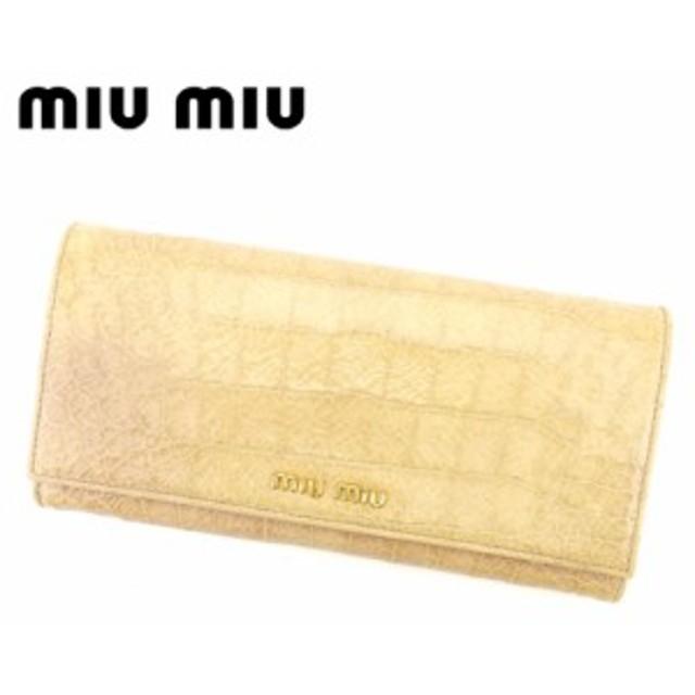 cd80662e1d97 ミュウミュウ miumiu 長財布 財布 小物 サイフ ファスナー付き 長財布 レディース クロコダイル型押し