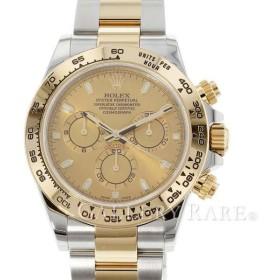 ロレックス コスモグラフ デイトナ SS×K18イエローゴールド ランダムシリアル ルーレット シャンパン文字盤 116503 ROLEX 腕時計