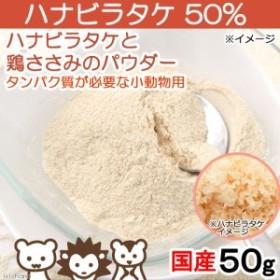 国産 ハナビラタケと鶏ささみのパウダー ハナビラタケ50% 50g タンパク質が必要な小動物用 (ハムスター 餌)