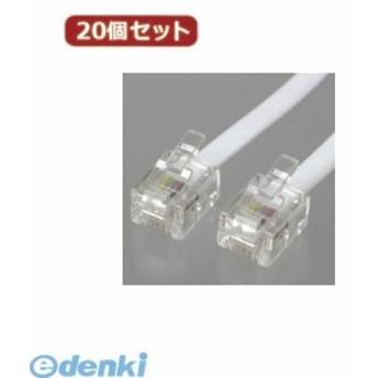 【個数:1個】TP1150WX20 直送 代引不可・同梱不可 YAZAWA 【20個セット】 ストレートモジュラーケーブル 1