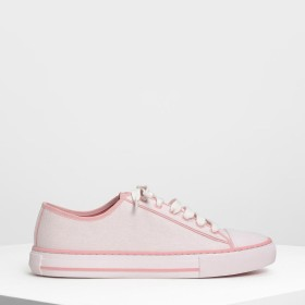 【2019 SPRING 新作】トータルフュー キャンバススニーカーズ / Total Hue Canvas Sneakers (Light Pink)