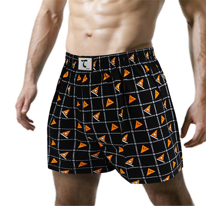 【天皇】舒適悠閒-星羅旗布平口褲-橘色