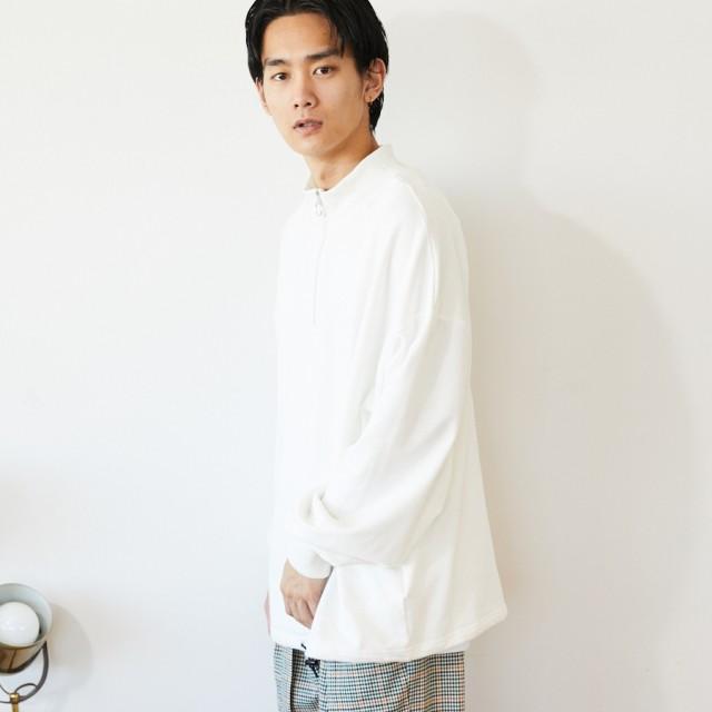 スウェット・ジャージ - kutir 【kutir】裏毛ハーフジッププルオーバー スウェット