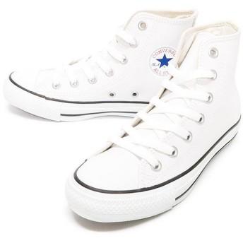 フットプレイス コンバース レザーオールスター ハイ CONVERSE LEATHER ALL STAR HI ユニセックス ホワイト 23cm 【FOOT PLACE】