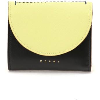 MARNI LAW バイカラー 三つ折り財布 財布,バニラ