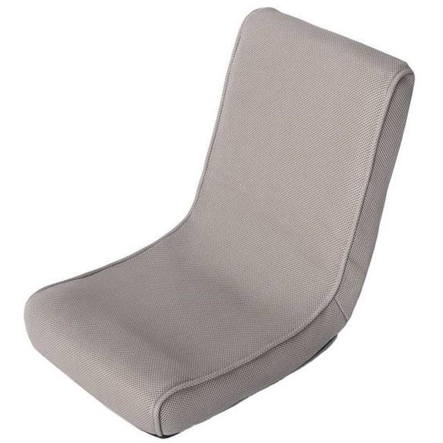 HOME COORDY HCコンパクト折り畳みフロアチェア ホームコーディ グレー 幅38x奥行37-54x高さ14-44cm 座椅子・フロアチェア