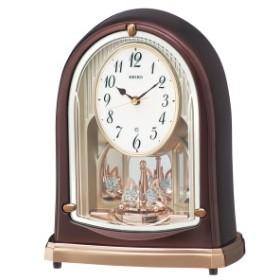 セイコー クロック 電波 置き時計 BY239B メロディー 音楽 茶メタリック アナログ