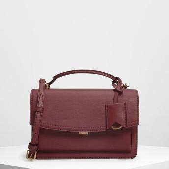 スリングフラップ クロスボディ / Single Flap Crossbody Bag (Prune)