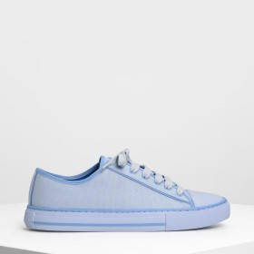 【2019 SPRING 新作】トータルフュー キャンバススニーカーズ / Total Hue Canvas Sneakers (Light Blue)