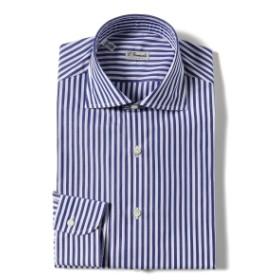 ERRICO FORMICOLA / ロンドンストライプ ワイドカラーシャツ メンズ ドレスシャツ BLUE 40
