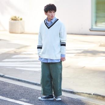 ニット・セーター - kutir 【kutir】オーバーシルエット チルデンニット プルオーバー S/S
