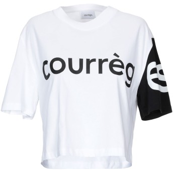 《9/20まで! 限定セール開催中》COURRGES レディース T シャツ ホワイト 2 コットン 100%