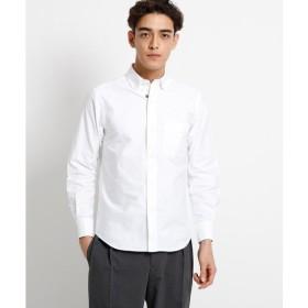 DRESSTERIOR / ドレステリア 【洗える】超長綿オックスフォード刺しゅう入りラウンドカラーシャツ