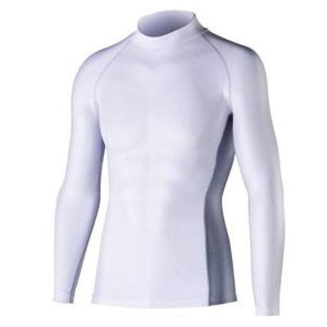 ボディタフネス 冷感・消臭 パワーストレッチ 長袖ハイネックシャツ(ホワイト・LLサイズ) BODY TOUGHNESS おたふく手袋 JW-625-WHT-LL 返品種別A
