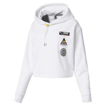 【プーマ公式通販】 プーマ TZ ウィメンズ フーディ ウィメンズ Puma White  CLOTHING PUMA.com