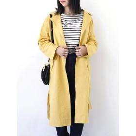 【5,000円以上お買物で送料無料】womens カーブヘムニュアンスコート