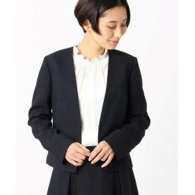COMME CA ISM / コムサイズム Vネック ノーカラージャケット 【セットアップ対応】