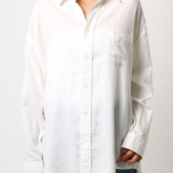 ルーズプレーンシャツ Ungrid○111850465601 オフホワイト トップス