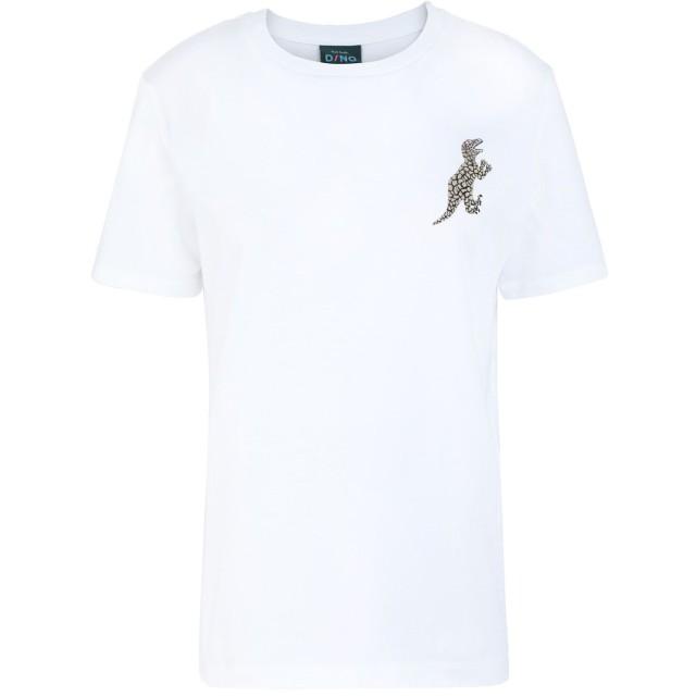 《期間限定セール開催中!》PAUL SMITH レディース T シャツ ホワイト XS コットン 100% WOMENS T-SHIRT DINO NEW COL