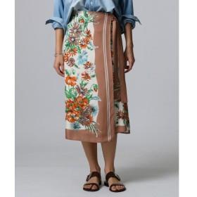 JET / ジェット ヴィンテージスカーフプリントラップスカート