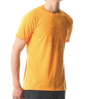 MIZUNO SHOP [ミズノ公式オンラインショップ] スパン天竺半袖プリントTシャツ[メンズ] 54 ブライトマリーゴールド A2MA8047
