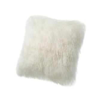 AUSKIN チベットラムスクエア型クッション○NC058 ホワイト 中材・ベッドウェア