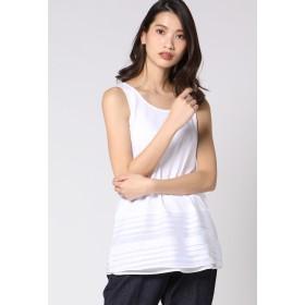 VICKY レーヤードインナータンクトップ Tシャツ・カットソー,ホワイト